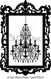 Black Chandelier Clip Art Vector Clip Art Of Picture Frame With Chandelier Antique Picture