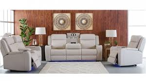 marina 3 seater powered recliner leather sofa lounges living