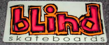 Blind Skate Logo Collection Sticker Life