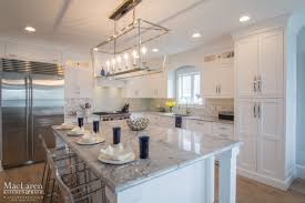marble island kitchen nautical themed kitchen avalon nj maclaren kitchen and bath