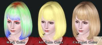 hair color to download for sims 3 cecile k hair for the sims3 kewai dou