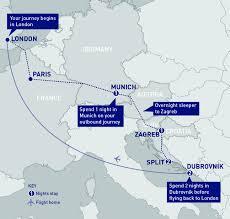 Zagreb Map Zagreb Split And Dubrovnik Railbookers