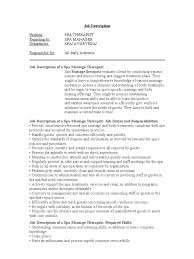 Massage Resume Doc 12751650 Spa Job Description 5 Top Search Materials Massage