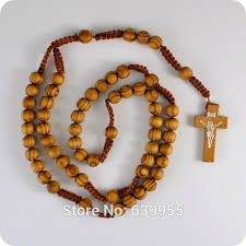 wooden rosary new wooden rosary inri jesus cross pendant necklace catholic