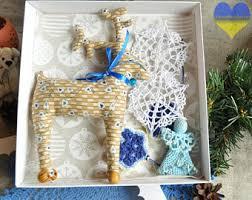 Waldorf Christmas Decorations Box Of Ornaments Etsy