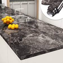 are black granite countertops out of style yenhome peel and stick countertops 24 x 196 inch sandstone black brown granite marble removable wallpaper decorative vinyl for kitchen