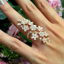 fashion long rings images Cherry blossom diamond long finger ring david morris the jpg