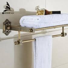 antique brass blue u0026 white porcelain bathroom single tier bathroom