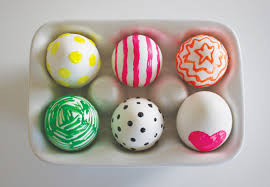 painted easter eggs neon paint easter eggs make and takes
