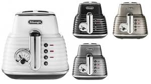 Two Slice Toaster Reviews Delonghi Scultura 2 Slice Toaster Toasters Small Kitchen