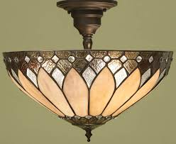 art deco style brooklyn semi flush 3 light tiffany l art deco style 63978