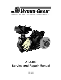 zt 4400 service and repair manual hydro gear