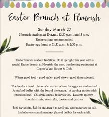 Easter Brunch Buffet Menu by Join Us For Our Easter Brunch Buffet And Copperwynd Resort