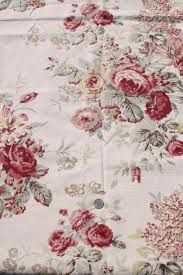 vintage roses print curtains u0026 fabric lot waverly norfolk rose