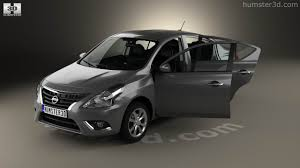 nissan versa interior 360 view of nissan versa sense with hq interior 2015 3d model