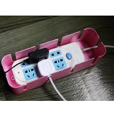 power cord socket storage box with cooling hole strip finishing