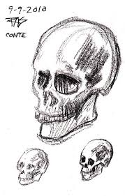 skulls and other sketches for today wetcanvas