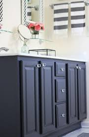 how to refinish bathroom cabinets repainting bathroom cabinets black spray paint bathroom decor