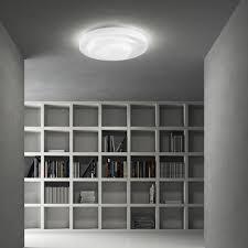 plafoniere a led da soffitto leucos loop line plafoniera a led da soffitto in vetro bianco satinato