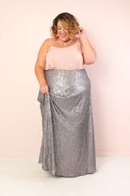 maxi skirt plus size sequin maxi skirt silver society plus