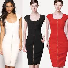 new arrival 2015 bodycon black white red club dresses