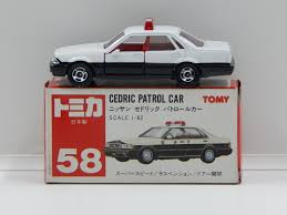 tomica nissan 1 62 nissan cedric patrol car with decal sheet made in japan