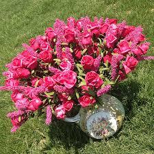 Lavender Roses Aliexpress Com Buy Artificial Flowers Peony Silk Lavender Rose