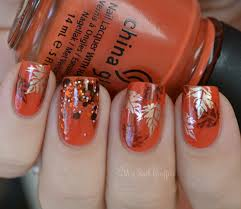 autumn leaves mani base is china glaze life preserver and the