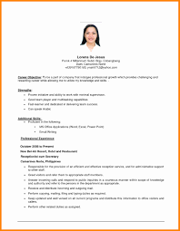 resume sle format for ojt students duties objectives resumes high resume objective writing exle