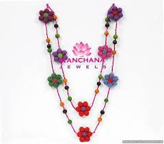 crochet jewelry necklace images Crochet jewelry multicolour crochet mala manufacturer from jodhpur jpg