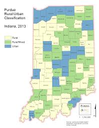 Indiana Counties Map Geographic Classifications
