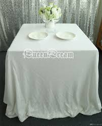 wedding table linens 96 square white sequin tablecloth or table cloth for wedding linen