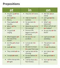 wix prepositions and grammar