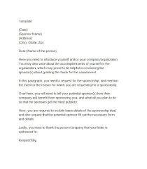easy cover letter template 40 sponsorship letter sponsorship templates