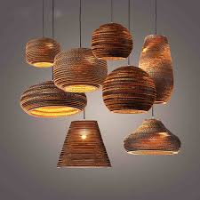 Paper Pendant Lighting Vintage Rural Paper Honeycomb Pendant Lamp Bar Pendant Light Paper