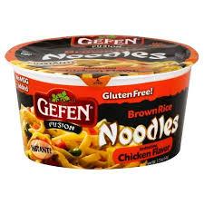 gefen noodles gefen gluten free brown rice noodle bowl chicken flavor 2 25 oz