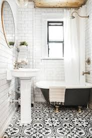 Spanish Style Bathroom by Black And White Bathroom Tile Home Design Ideas