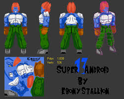 all androids z android 13 lowpoly super13 by
