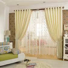 rideau chambre à coucher de luxe solide couleur perles rideau pour chambre à coucher blackout
