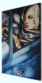 tamara de lempicka fine art print on canvas 90 x 60 cm self
