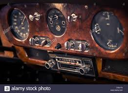 old bentley interior dashboard in vintage interior of old automobile stock photo