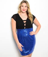 black royal plus size sequin cocktail dress modishonline com