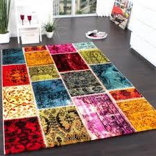 Multi Coloured Rug Uk Modern Canvas Design Rug Colourful Decorative Floral Pattern Cream