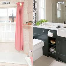 before and after be inspired by a coolly classic bathroom update