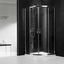 Black And White Modern Bathroom by Architecture Exciting Bathroom Design With Corner Shower Stalls