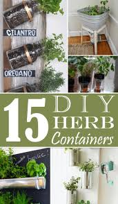 15 creative ideas for cheap or free herb containers