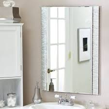 white framed mirror bathroom mirrors pivot and lights ideas silver