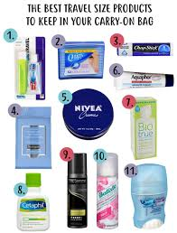travel size products images The best travel size products to keep in your carry on bag