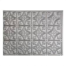 Fasade Backsplash Panels Reviews by Fasade 24 In X 18 In Traditional 1 Pvc Decorative Backsplash