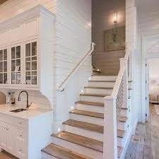 Kitchen Design With Basement Stairs Beach Bungalow Wet Bar Next To Staircase K I T C H E N